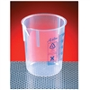 AZLON GRADUATED POLYPROPYLENE TAPERED LOW FORM BEAKERS