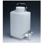 THERMO SCIENTIFIC NALGENE FLUORINATED HDPE RECTANGULAR CARBOYS WITH SPIGOT
