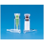 WHEATON 12 X 32 MM LARGE OPENING E-Z VIALS WITH 11 MM SNAP RING