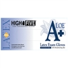 HIGH FIVE POWDER-FREE LATEX A+ ALOE EXAM GLOVES