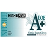 HIGH FIVE NITRILE POWDER-FREE A+ ALOE GLOVES