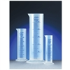 AZLON EDUCATIONAL GRADE POLYPROPYLENE, SQUAT FORM, GRADUATED CYLINDERS